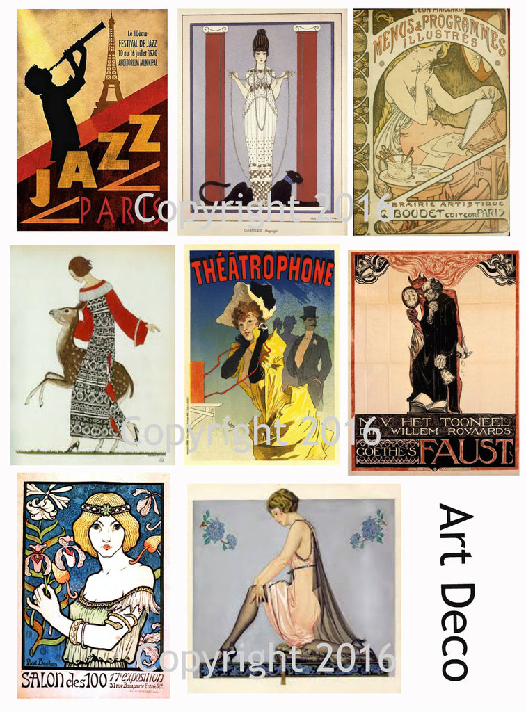 Art Deco Art Images Collage Sheet #103
