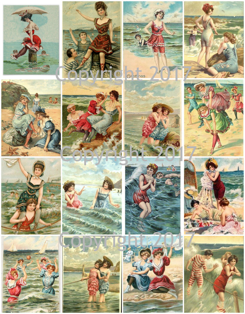 Vintage Bathing Beauties Collage Sheet 101