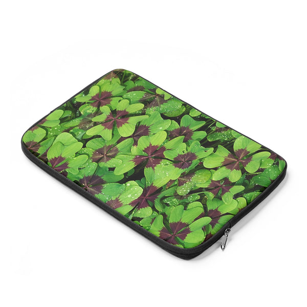 Four Leaf Clover Photo Print Laptop Sleeve
