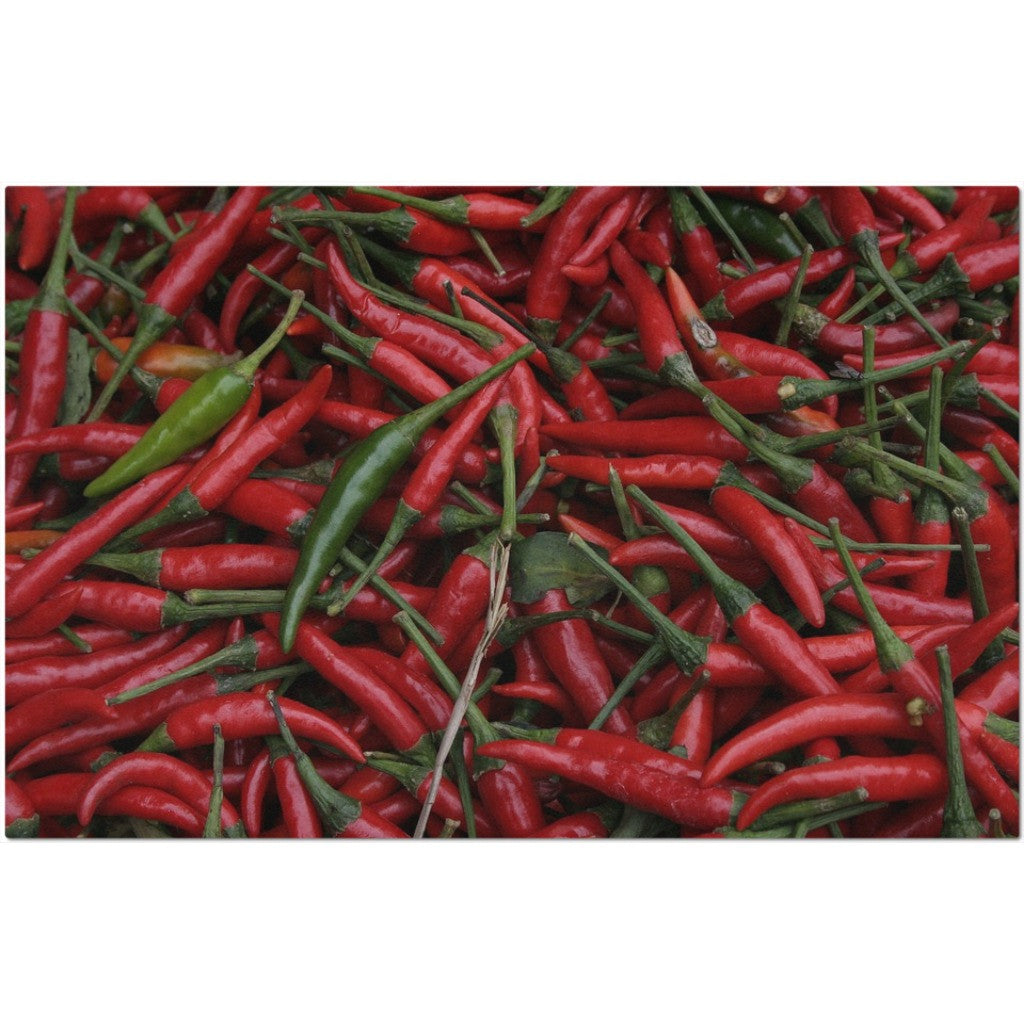 Laminated Chili Peppers Placemat