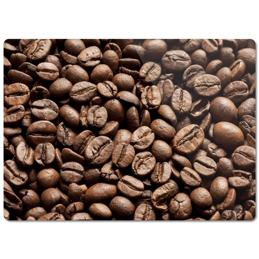 "Glass Cutting Board ""Coffee Beans"""
