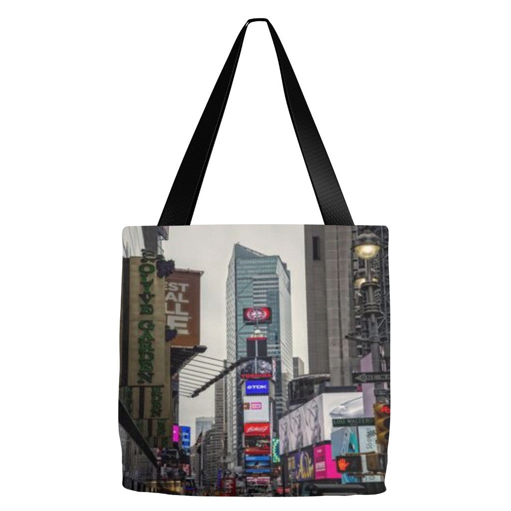 NYC Times Square Tote Bag 18 x 18""