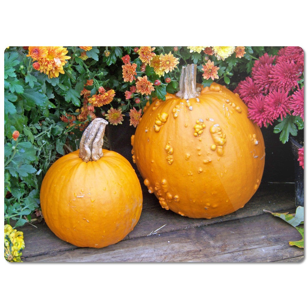 "Glass Cutting Board ""Pumpkins"""
