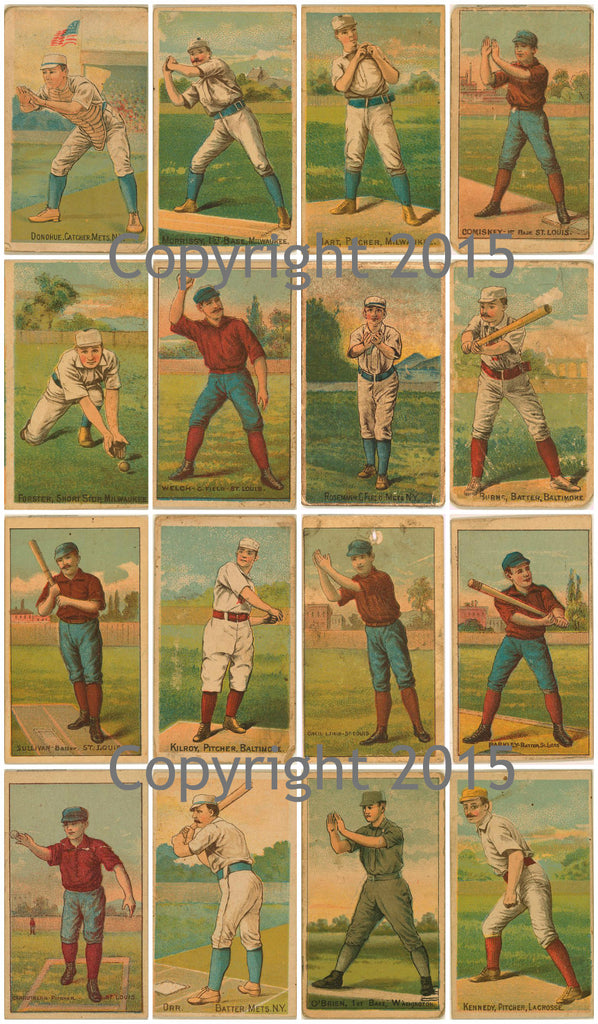 Vintage Baseball Cards #2 Collage Sheet