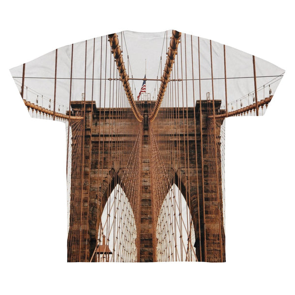 Brooklyn Bridge Photo Image Unisex AOP Sublimation Tee