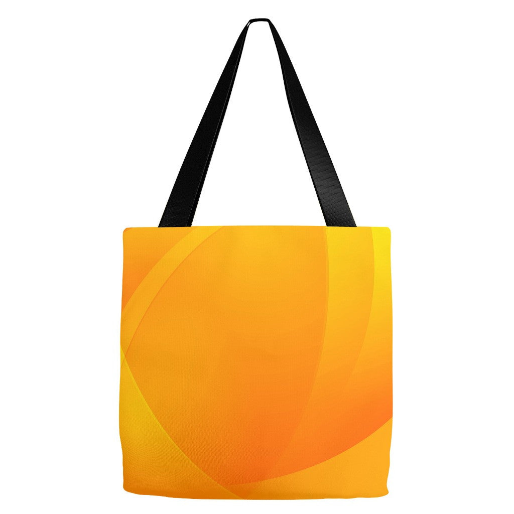 Orange Print Tote Bag 18 x 18""