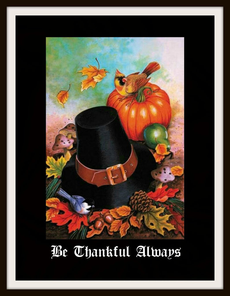 "Vintage Art Print ""Be Thankful Always"", Wall Decor, 8 x 10"" Unframed Printed Art Image, Scripture Print, Motivational Quote"