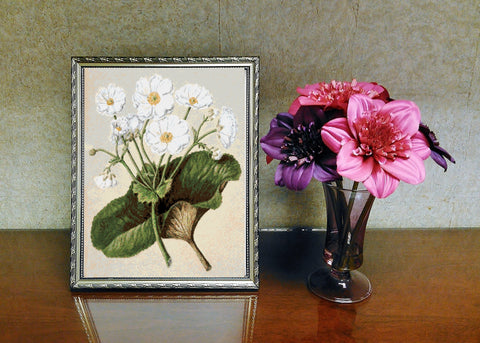 Vintage Botanical Flowers Counted Cross Stitch Pattern INSTANT DOWNLOAD
