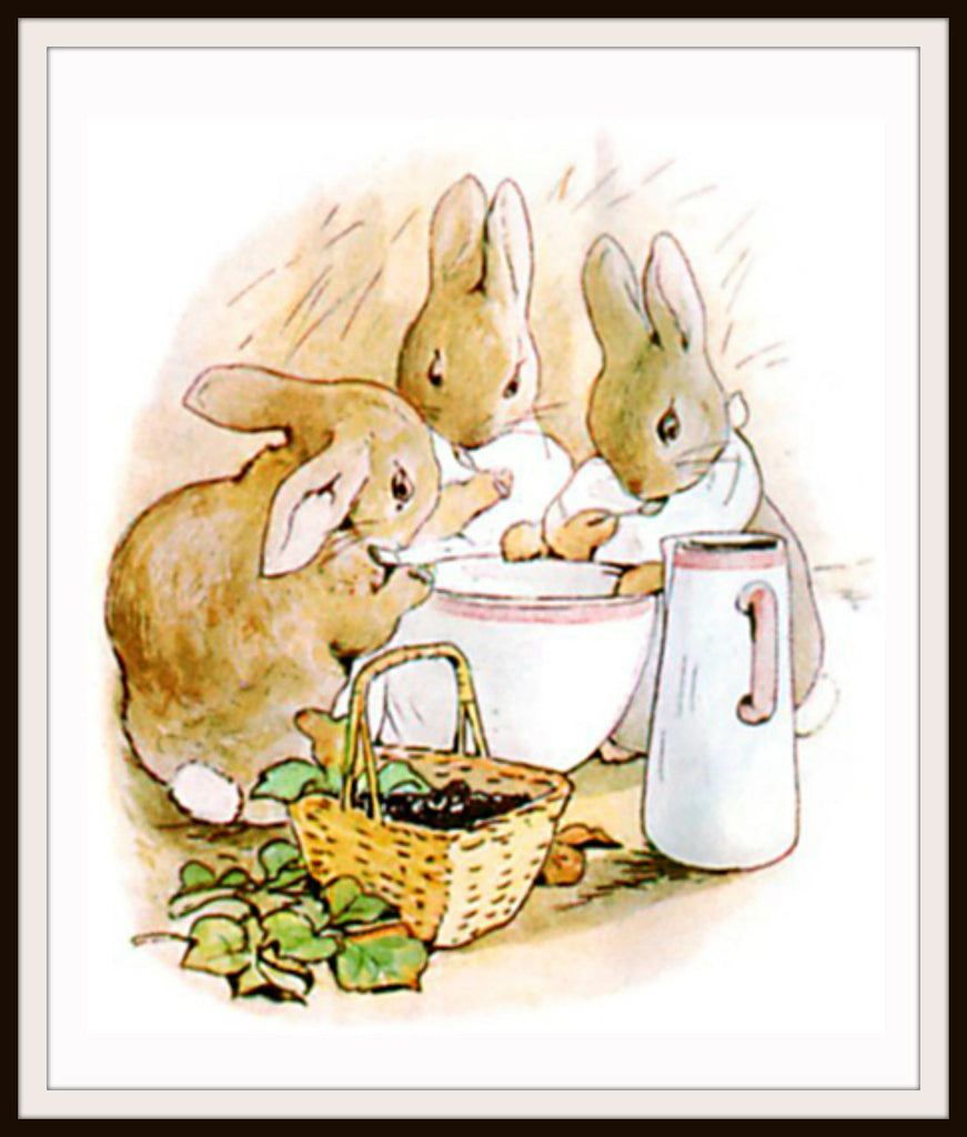 Flopsy Bunnies by Beatrix Potter Art Print 8 x 10""