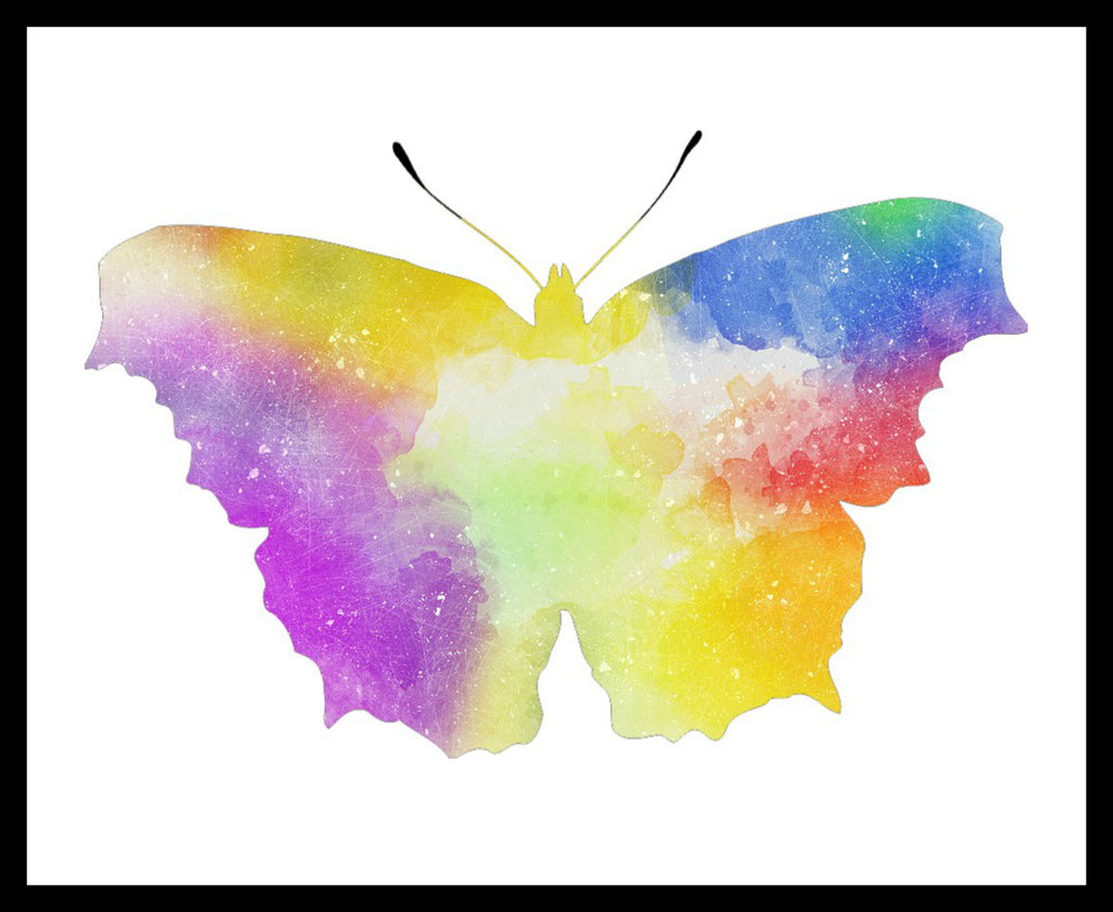 Printed Watercolor Art Print Butterfly Poster Art Image Unframed