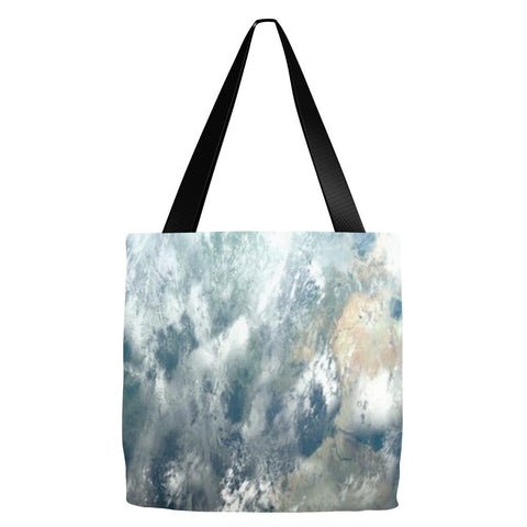 Abstract Sky Print Tote Bag 18 x 18""