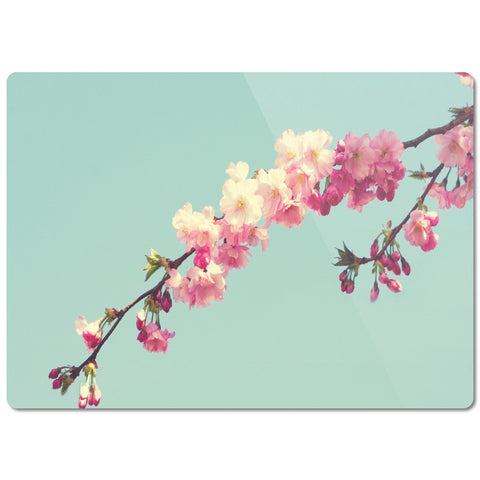 "Glass Cutting Board ""Blossoms"""