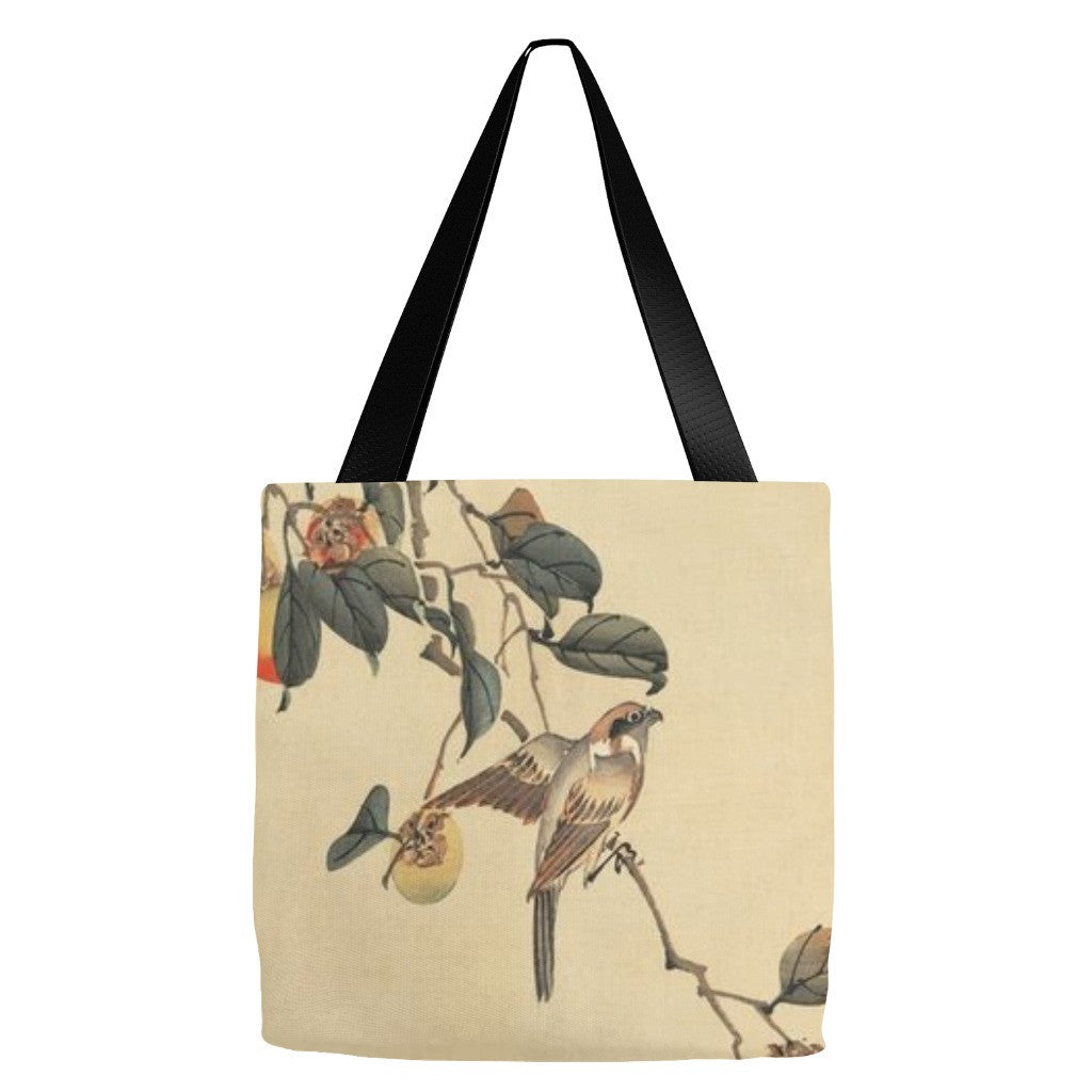 Bird Print Tote Bag 18 x 18""