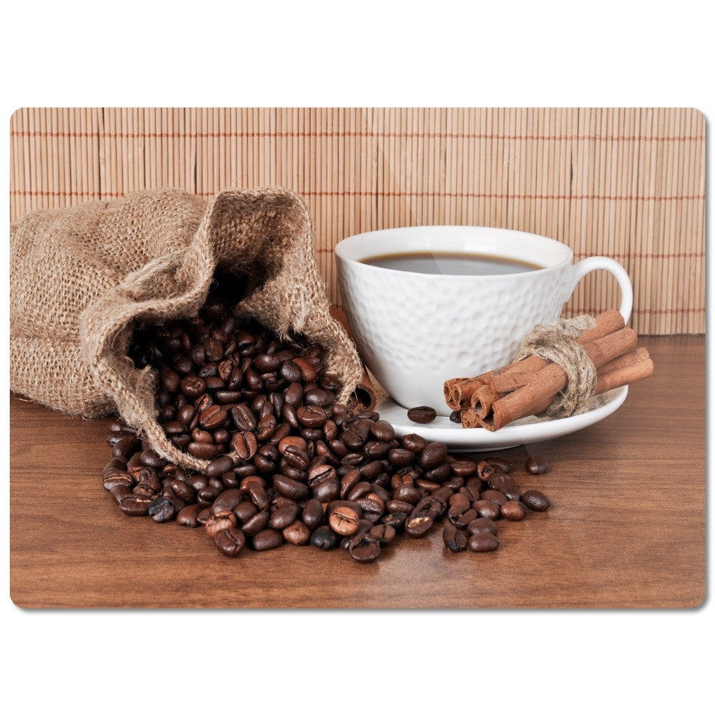 "Glass Cutting Board ""Coffee"""