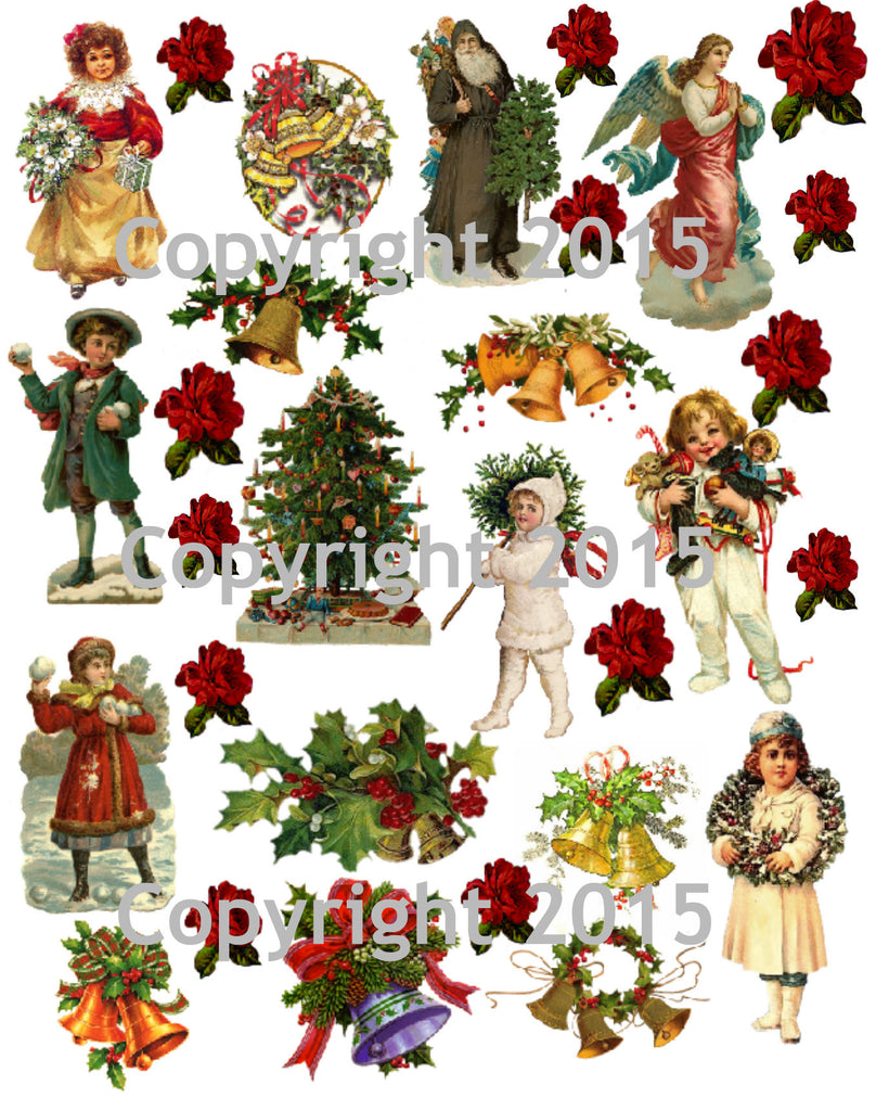 Vintage Christmas Collage Sheet  #104