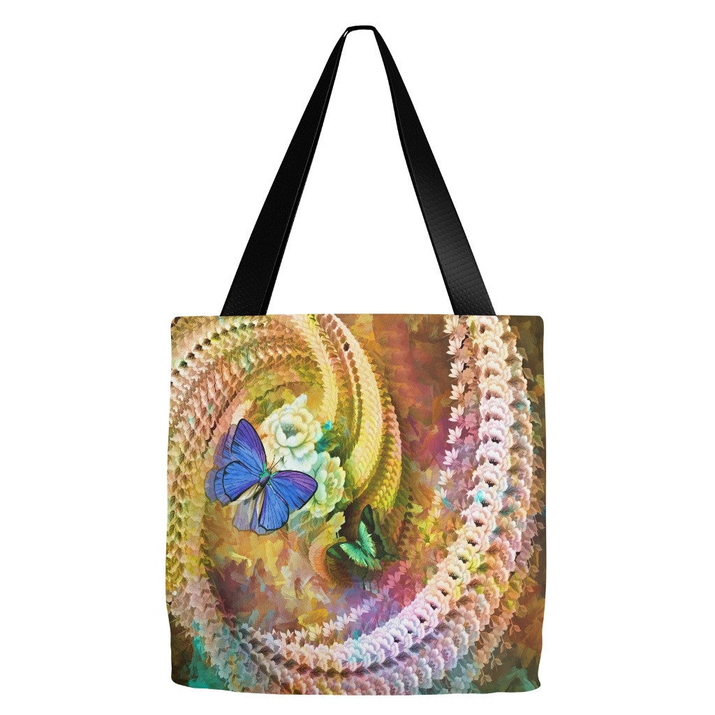 Butterfly Print Tote Bag 18 x 18""