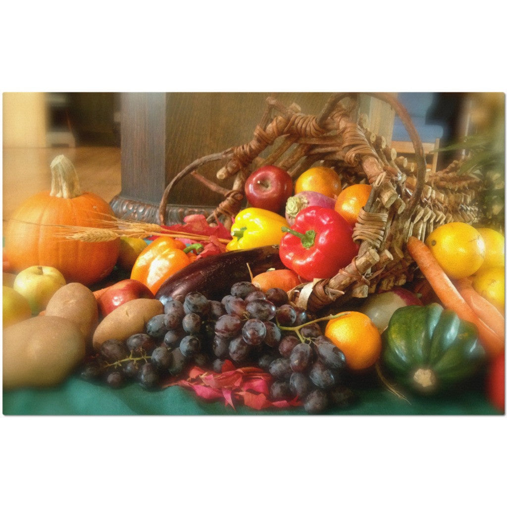 Laminated Harvest Placemat 11 x 17""