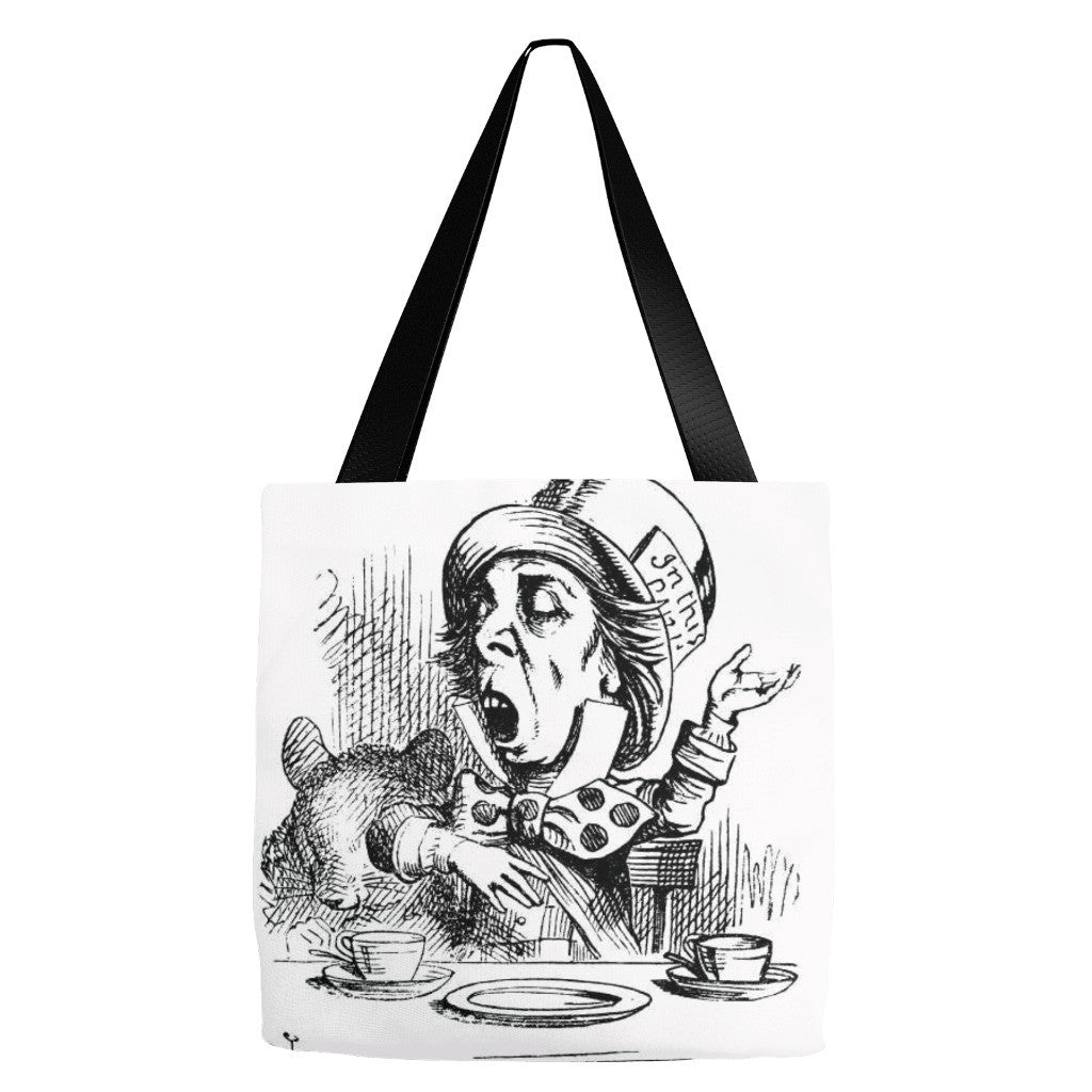 Mad Hatter Tote Bag 18 x 18""