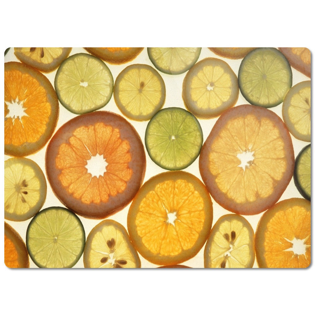 "Glass Cutting Boards ""Citrus Fruit"""