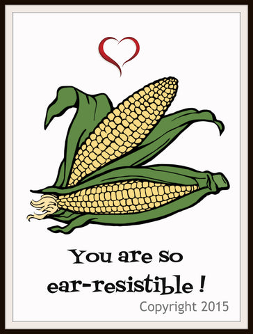 "Art Print  ""You Are Ear-resistible"", Wall Decor, 8 x 10"" Unframed Printed Art Image"