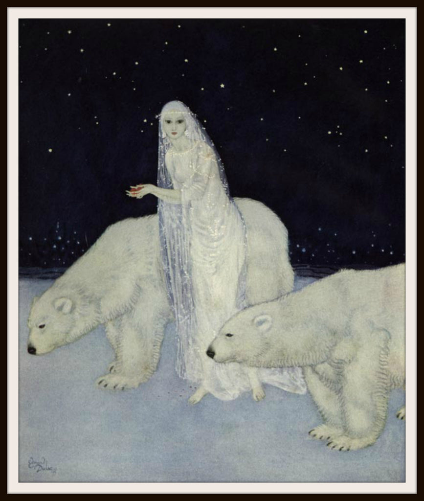 "Vintage Art Print Wall Decor Nursery Print ""Everything About Her Was White"" by Edmund Dulac, 8.5 x 11, Reproducttion Unframed"