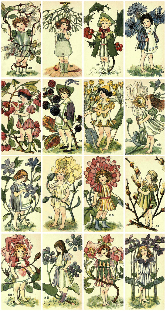 Victorian Flower Children Collage Sheet  Printed Collage Sheet,  Weddings, Decoupage, Scrapbook, Altered Art, Victorian Scrap