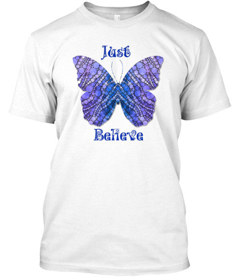 Just Believe Butterfly Tee Shirt for Women