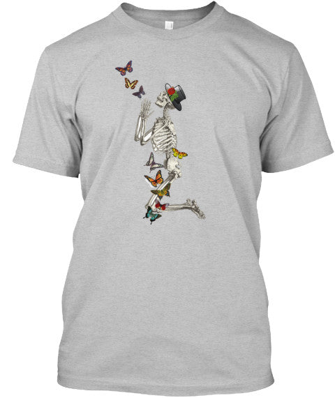 Skeleton and Butterflies Tee Shirt