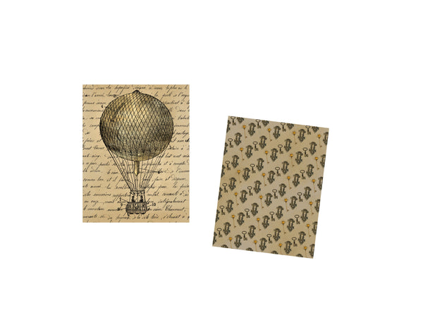 Steampunk Journal Pages #5: 10 Journal or Scrapbook Pages