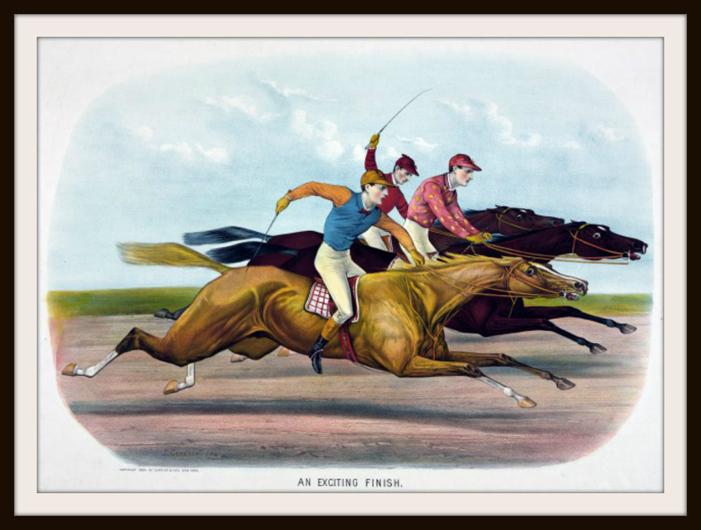 Vintage Poster Art Poster  Horse Race 8.5 x 11""