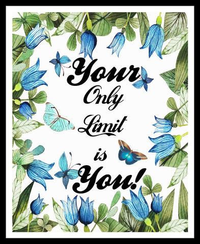 """Your Only Limit is You"" Wall Decor, Unframed Printed Art Print Postert, Motivational Quote"