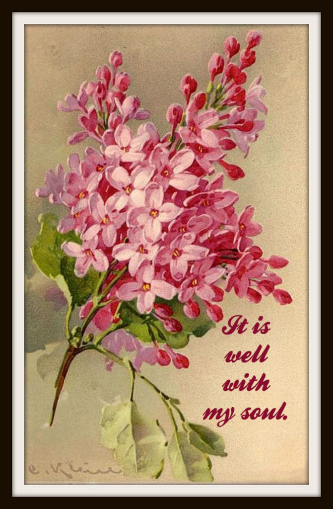 "Vintage Art Print ""It Is Well In My Soul"", Wall Decor, 8 x 10"" Unframed Printed Art Image, Scripture Print, Motivational Quote"