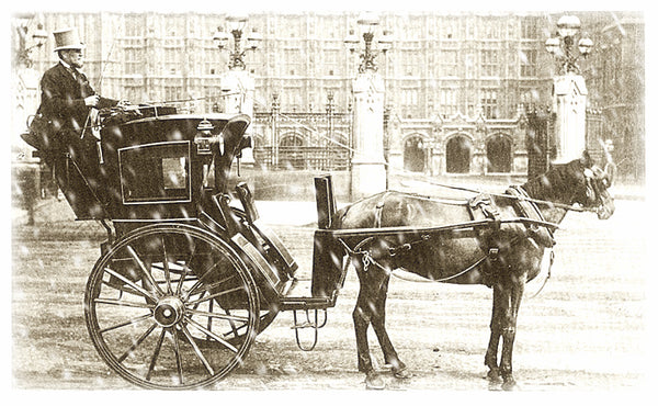 "Vintage Historic Photograph  ""Horse and Carriage ""   Unframed Wall Decor"