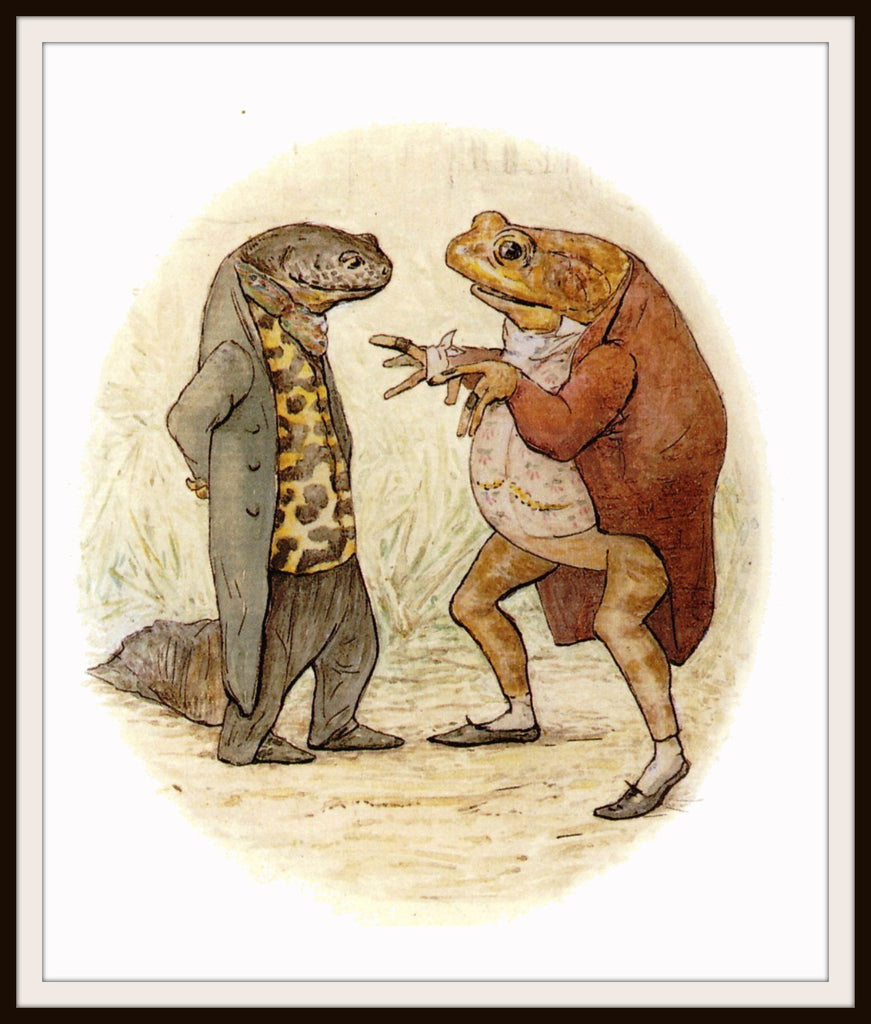 Jeremy Fisher and Sir Isaac Newton by Beatrix Potter Art Print 8 x 10""