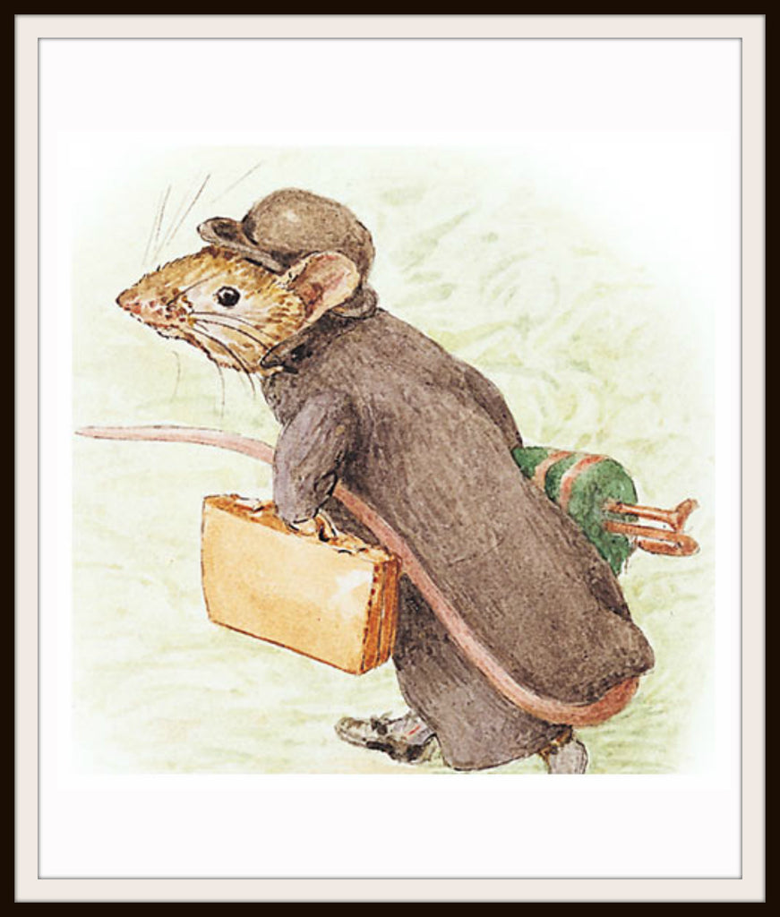 Johnny Town Mouse  by Beatrix Potter Art Print 8 x 10""