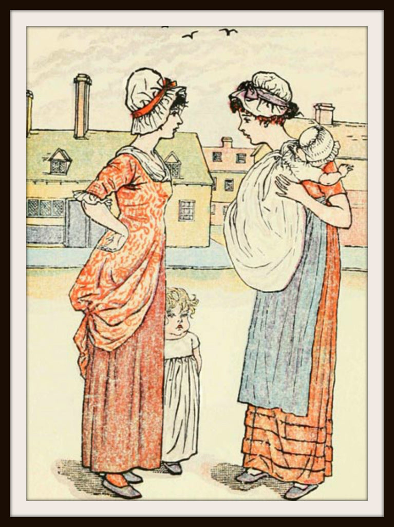 Vintage Mother's Day Art Print  Mothers by Kate Greenaway 8.5 x 11""