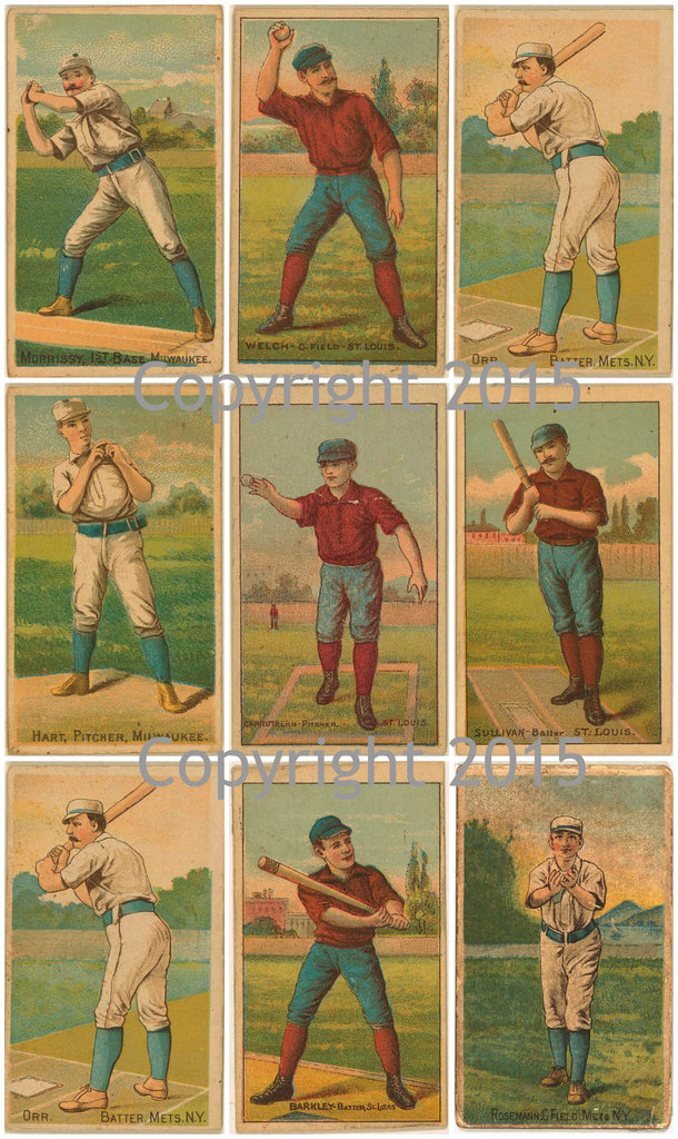 Vintage Baseball Cards #3 Collage Sheet