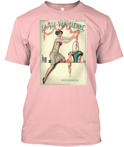 Vintage French Magazine Cover Art Print Tee Shirt