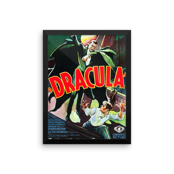 "Bella Lugosi ""Dracula"" Vintage Movie Framed Poster"