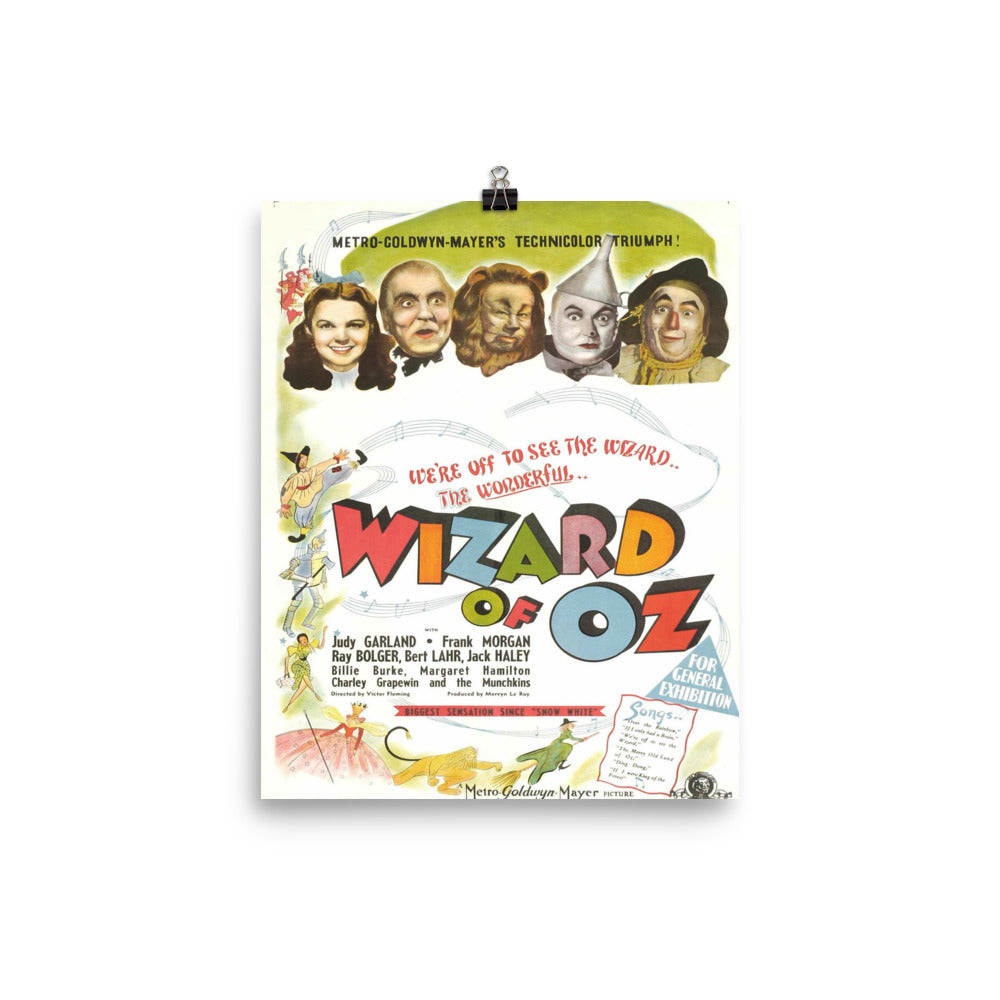 Wizard Of Oz Vintage Movie Poster