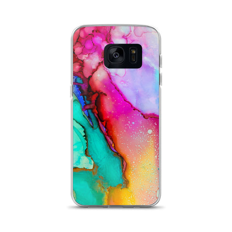 Rainbow Watercolor Samsung Case