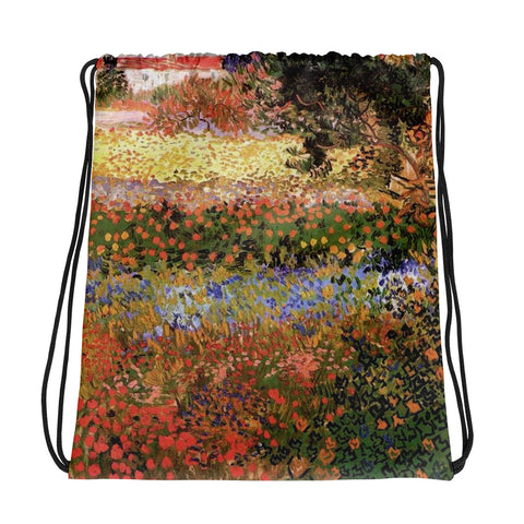 Vincent Van Gogh Field Drawstring bag, Backpack