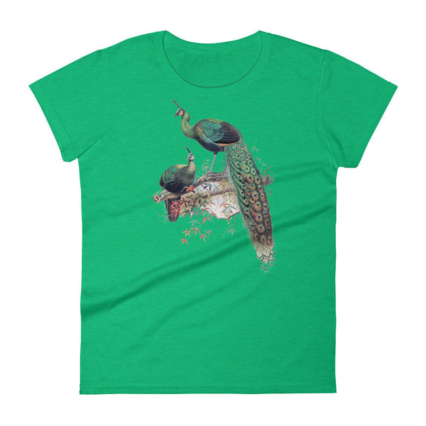 Vintage Peacock Art Print Women's short sleeve Tee Shirt