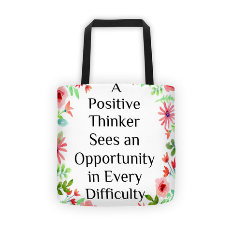 A Positive Thinker Tote bag