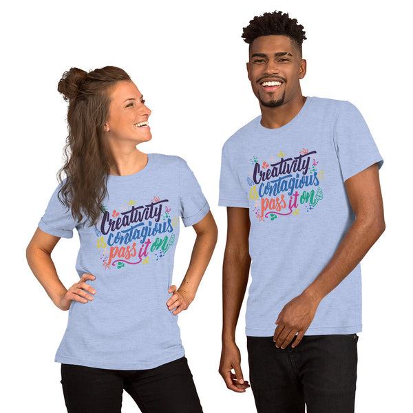 Creativity is Contageous Short-Sleeve Unisex T-Shirt