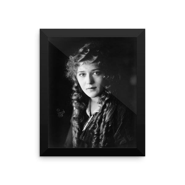 Vintage Silent Film Star Mary Pickford Framed Poster