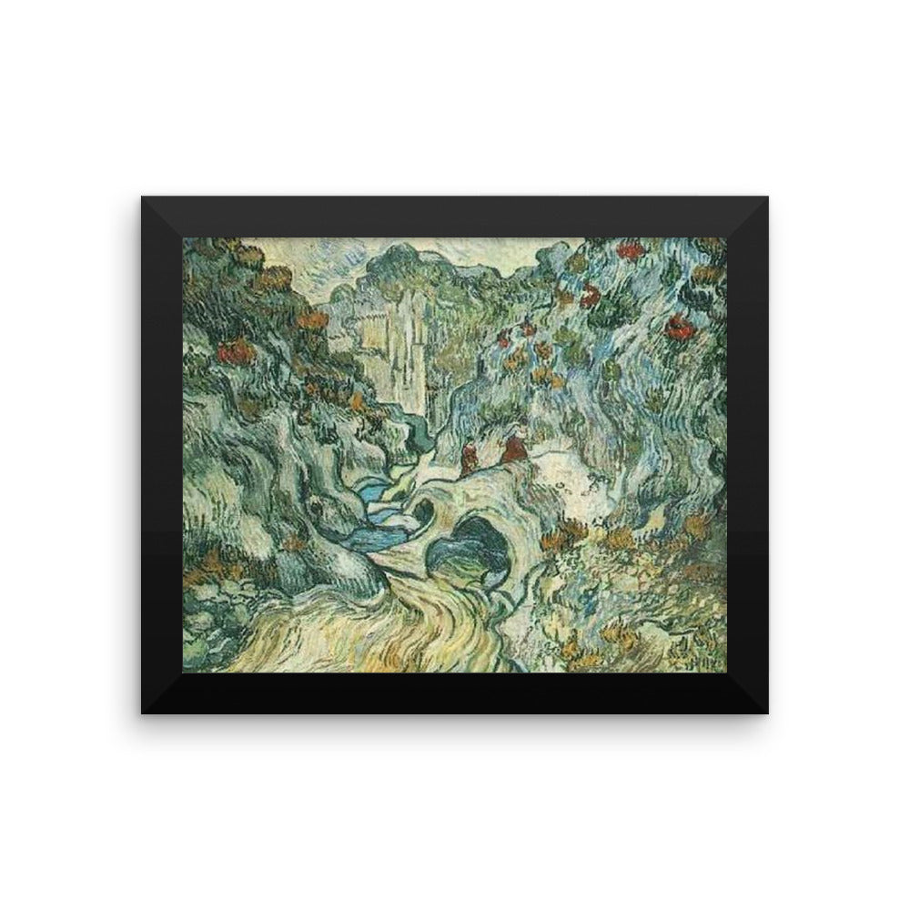 Mountainous Ravine by Vincent Van Gogh Art Reproducion Framed poster
