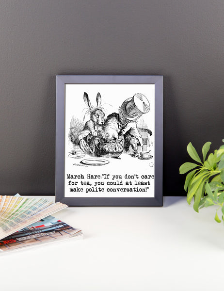 Alice in Wonderland  Tea Party Framed Poster, Wall Decor