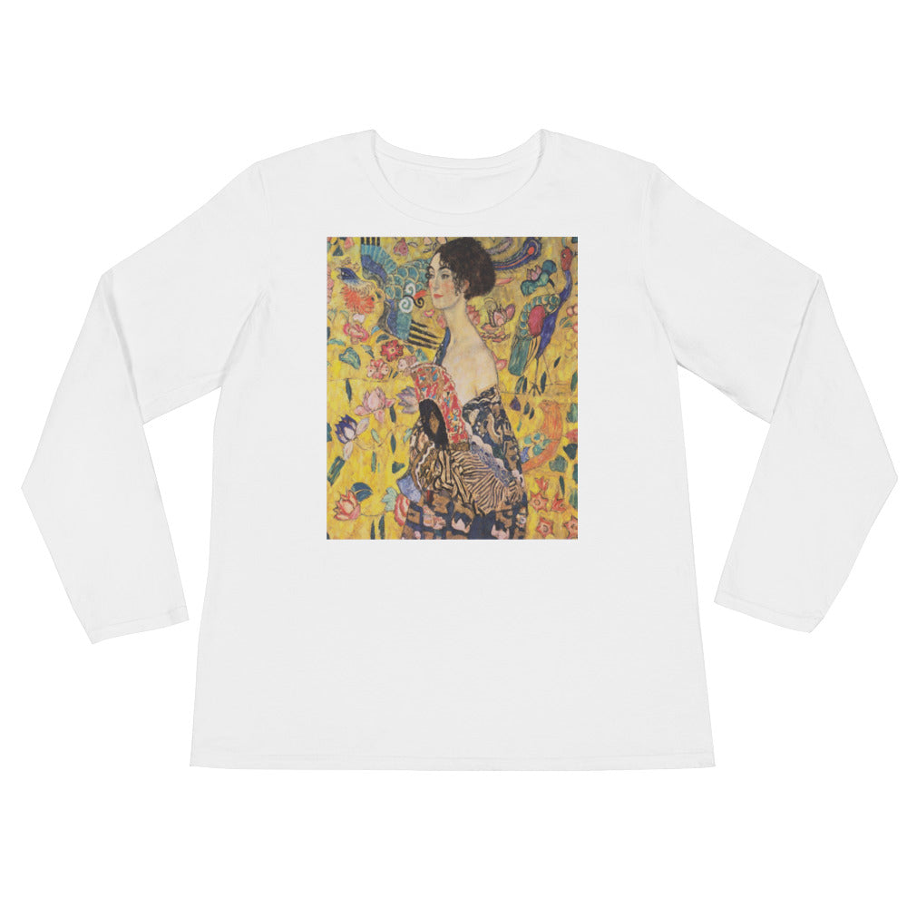 "Gustav Klimt ""Lady With A Fan"" Ladies' Long Sleeve T-Shirt"