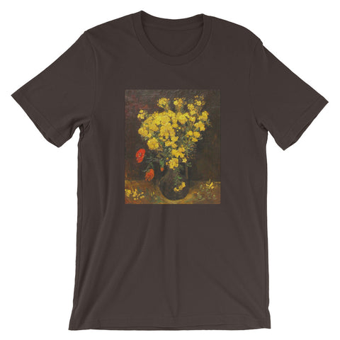 Van Gogh Art Vase of Flowers Short-Sleeve Unisex T-Shirt